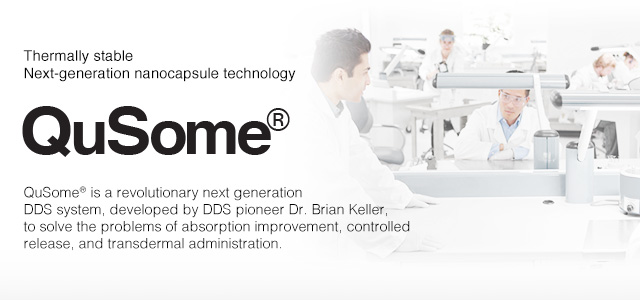 QuSome® is a drug delivery system (DDS) that was developed by Dr. Brian Keller, the world authority on DDS.